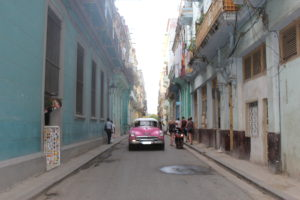 street scene in old Havana